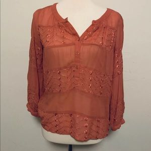 Urban Outfitters Peasant Blouse Size XS